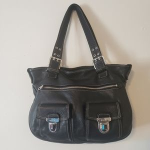 Roots Leather Shoulder/Hobo Bag